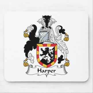Escudo de la familia de Harper Mousepads