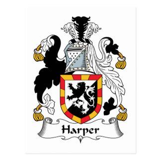 Escudo de la familia de Harper Tarjetas Postales