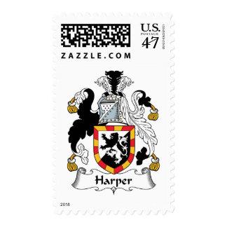 Escudo de la familia de Harper Timbre Postal