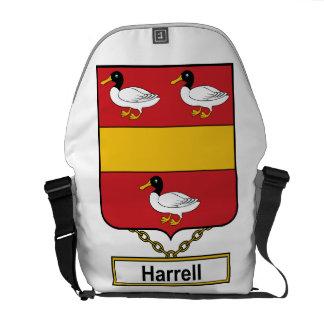 Escudo de la familia de Harrell Bolsas De Mensajería