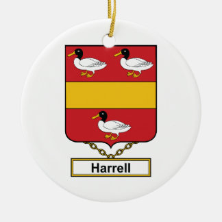 Escudo de la familia de Harrell Ornamento De Navidad