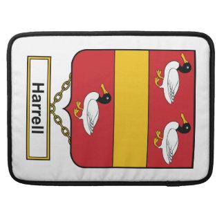 Escudo de la familia de Harrell Funda Para Macbooks