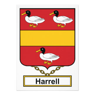 Escudo de la familia de Harrell Invitaciones Personales