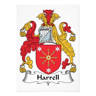 Escudo de la familia de Harrell Invitaciones Personalizada
