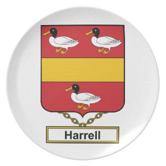 Escudo de la familia de Harrell Platos