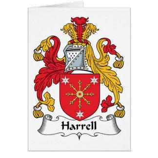 Escudo de la familia de Harrell Tarjetón