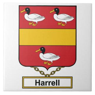 Escudo de la familia de Harrell Tejas Cerámicas