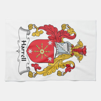 Escudo de la familia de Harrell Toalla De Mano