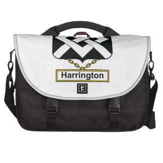 Escudo de la familia de Harrington Bolsa De Ordenador
