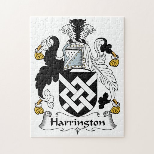 Escudo de la familia de Harrington Rompecabeza Con Fotos