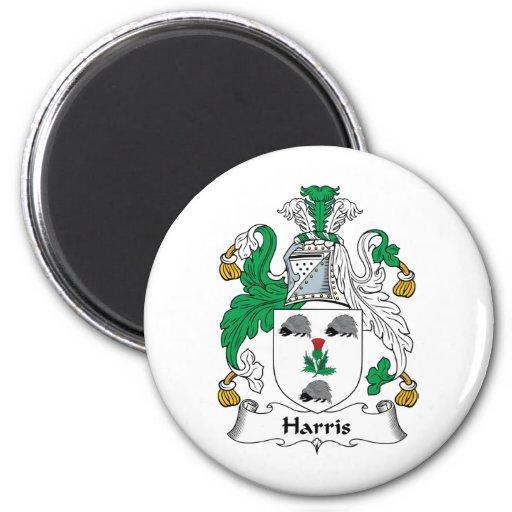 Escudo de la familia de Harris Imán Para Frigorífico