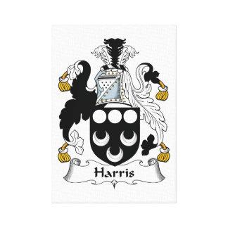 Escudo de la familia de Harris Impresión De Lienzo