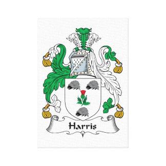 Escudo de la familia de Harris Impresión En Lienzo