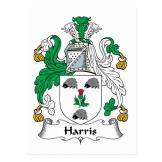 Escudo de la familia de Harris Tarjeta Postal