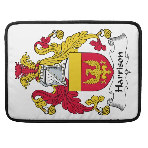 Escudo de la familia de Harrison Fundas Para Macbook Pro