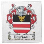 Escudo de la familia de Harrison Servilletas Imprimidas