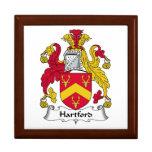Escudo de la familia de Hartford Caja De Recuerdo
