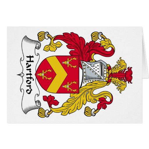 Escudo de la familia de Hartford Felicitación