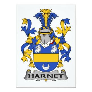 """Escudo de la familia de Hartnet Invitación 5"""" X 7"""""""