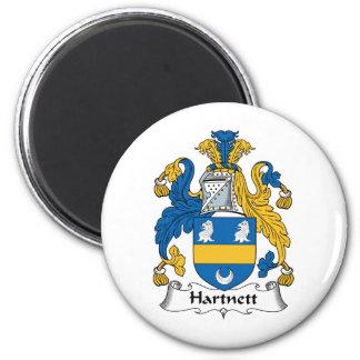 Escudo de la familia de Hartnett Imán Redondo 5 Cm