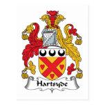 Escudo de la familia de Hartsyde Postal