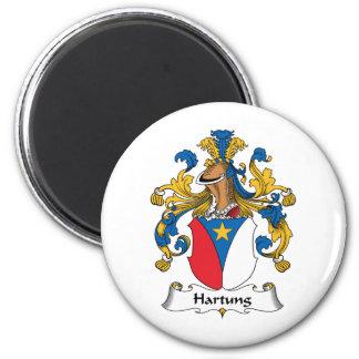 Escudo de la familia de Hartung Imán Redondo 5 Cm