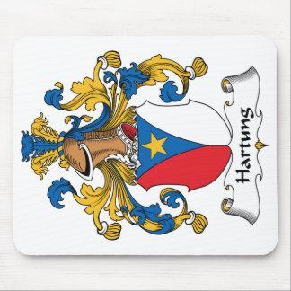 Escudo de la familia de Hartung Alfombrillas De Ratones