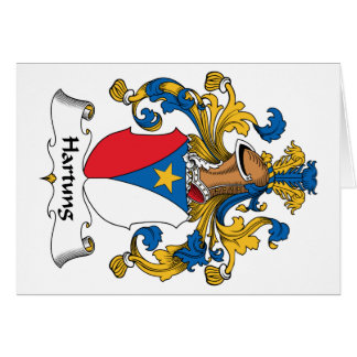 Escudo de la familia de Hartung Tarjeta De Felicitación