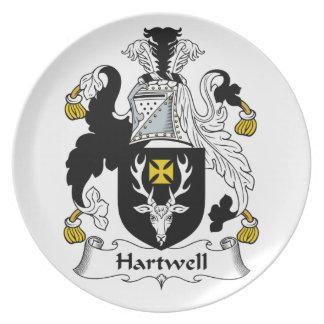 Escudo de la familia de Hartwell Platos Para Fiestas