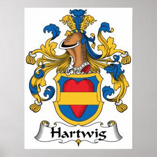 Escudo de la familia de Hartwig Impresiones