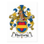 Escudo de la familia de Hartwig Postal