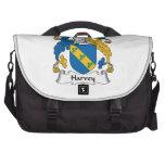 Escudo de la familia de Harvey Bolsas Para Ordenador