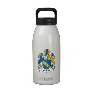 Escudo de la familia de Harvey Botella De Agua