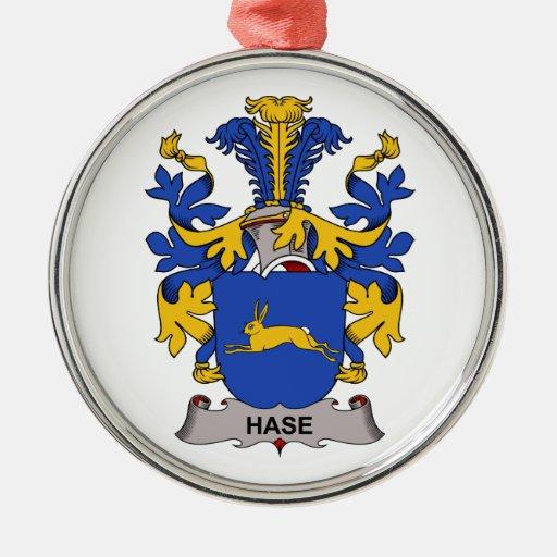 Escudo de la familia de Hase Adorno Redondo Plateado
