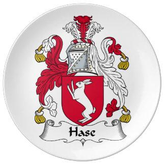 Escudo de la familia de Hase Plato De Cerámica