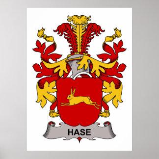 Escudo de la familia de Hase Póster