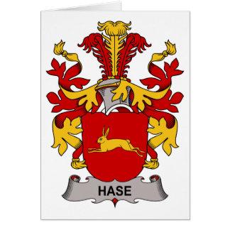 Escudo de la familia de Hase Tarjeta De Felicitación