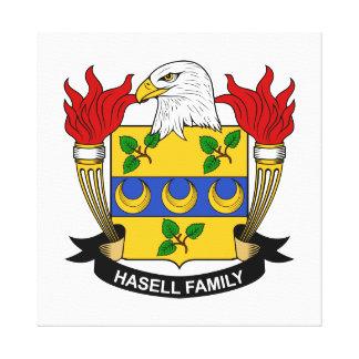 Escudo de la familia de Hasell Impresión En Lienzo Estirada