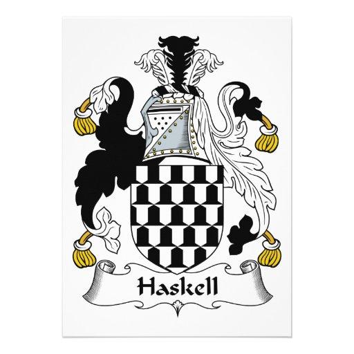Escudo de la familia de Haskell Comunicado Personalizado