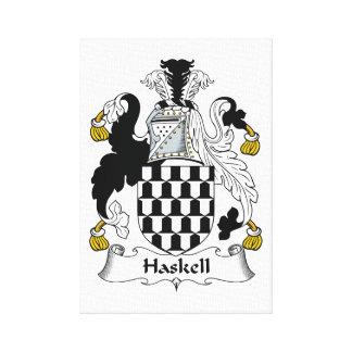 Escudo de la familia de Haskell Impresión En Lona Estirada