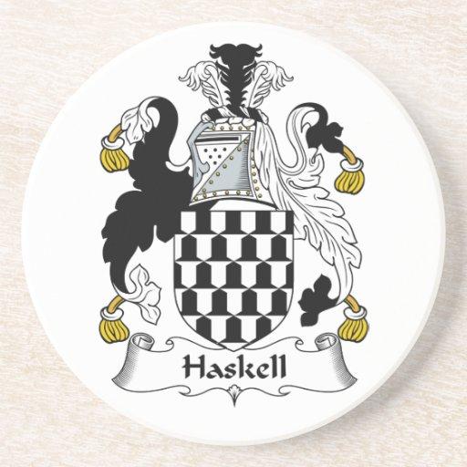 Escudo de la familia de Haskell Posavasos Personalizados