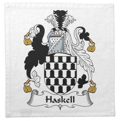Escudo de la familia de Haskell Servilletas De Papel
