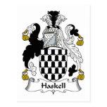 Escudo de la familia de Haskell Tarjeta Postal