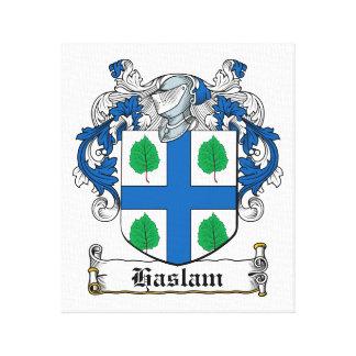 Escudo de la familia de Haslam Impresiones En Lona