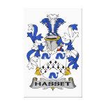 Escudo de la familia de Hasset Impresión De Lienzo
