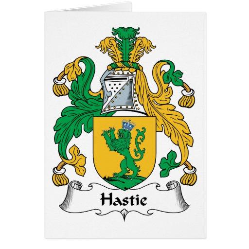 Escudo de la familia de Hastie Tarjeta De Felicitación