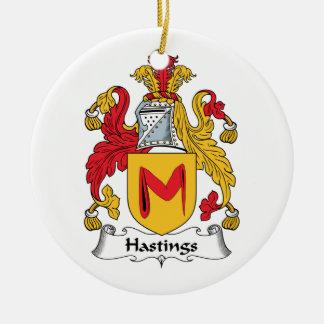 Escudo de la familia de Hastings Adorno Redondo De Cerámica
