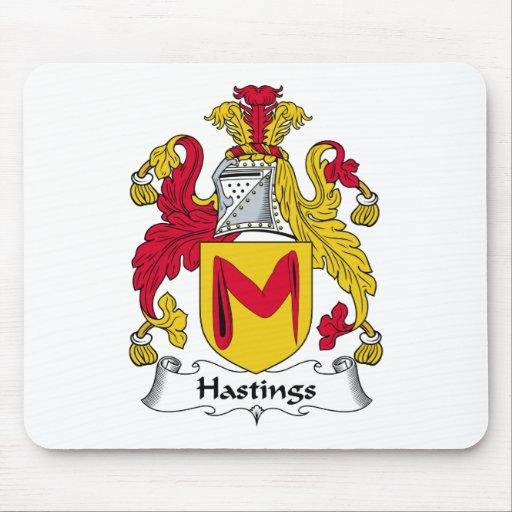 Escudo de la familia de Hastings Tapetes De Ratón