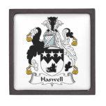 Escudo de la familia de Haswell Cajas De Recuerdo De Calidad