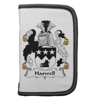 Escudo de la familia de Haswell Planificador